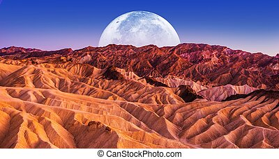 Death Valley Scenic Night. Death Valley National Park...