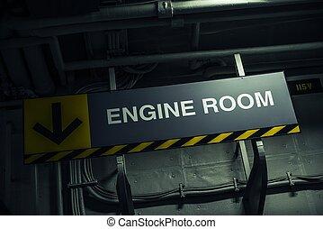 moteur, salle, signe