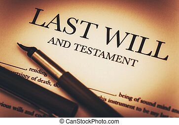 Last Will and Testament Document Ready to Sign Last Will...