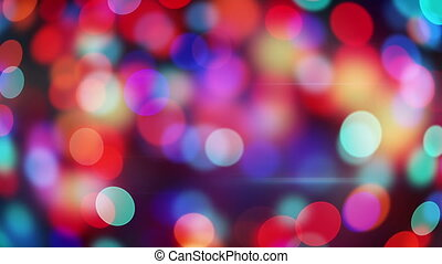 red blue circle bokeh lights loopable background - red blue...