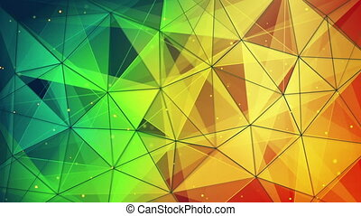 colorful triangles and lines pattern loopable - colorful...