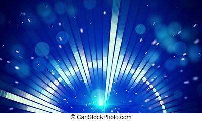 blue circular equalizer level meter loop background - blue...