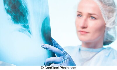 Looking on x-ray picture