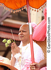 the ordination ceremony of the new monk - the ordination...