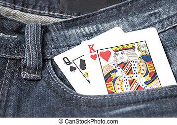 card in jean pocket