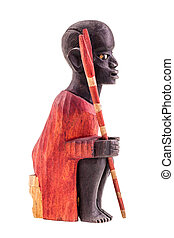kenya warrior figurine - a wooden kenya warrior figurine...