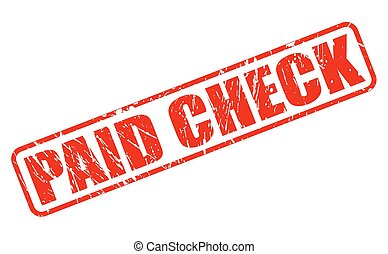 Paid check red stamp text
