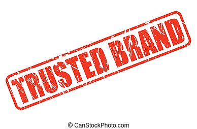 Trusted brand red stamp text