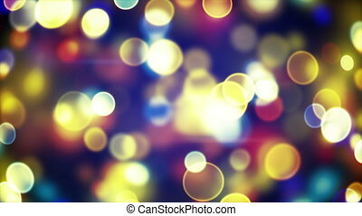 glowing circle bokeh lights loopable background - glowing...