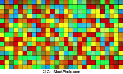 glowing colorful tiles glass mosaic loopable background -...