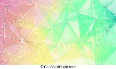 delicate color triangles web pattern loopable - delicate...