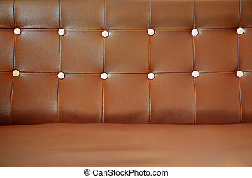 Brown Vintage leather close-up Sofa
