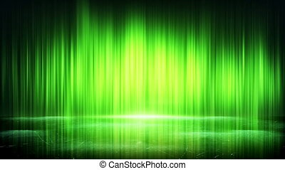 green light lines and reflection loop background - green...