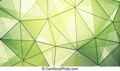 green triangles and lines pattern seamless loop