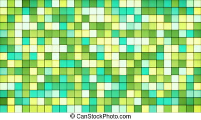 yellow green cyan glass mosaic loop