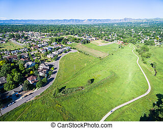 Large park - Aerial view of Belmar Park in Lakewood...