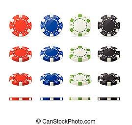 Vector poker chips set