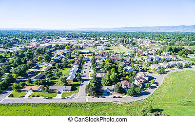 Residential neighborhood - Aerial view of residential...