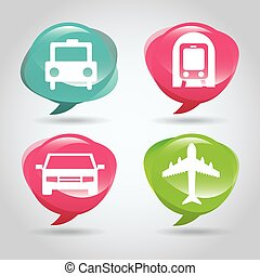 Transportation icon  design, vector illustration eps 10