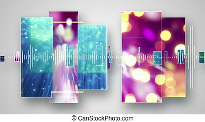 christmas party loopable background