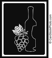 wine cover design, vector illustration eps10 graphic