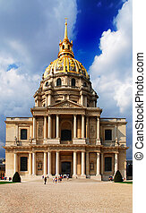 Invalides - Dome of  Les Invalides in Paris, France