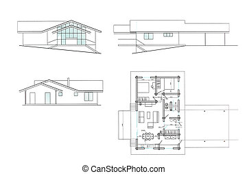 house plan background - new house plan blueprint drawing,...