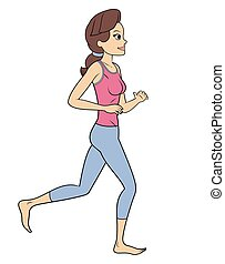 Fitness woman jogging