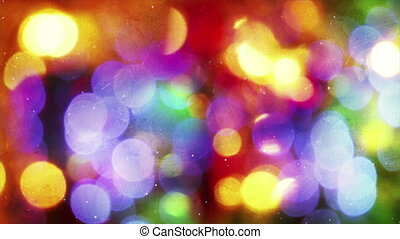 christmas light bokeh reflected in glass loop - christmas...