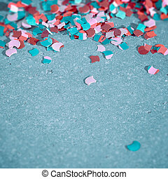 Party Time - Confetti on the ground - symbol for celebration...