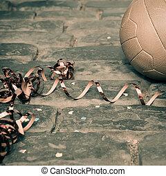 futbol, calle, fiesta, -, vendimia,