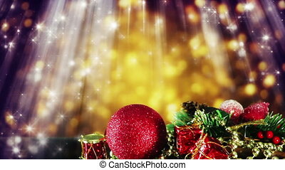 candles and golden glitter particles seamless loop