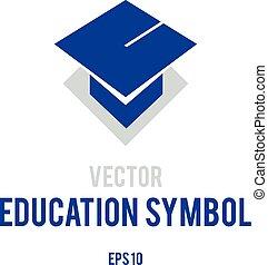 Vector symbol of education - Conceptual vector graphic...