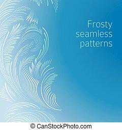 Frosty seamless patterns