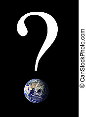 Question Mark Earth - A question mark with an image of the...