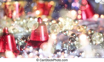 christmas decoration bell and glitter loopable