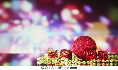 christmas decorations and sparkler loopable background