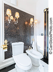 Toilet in the baroque residence - Luxury toilet in the...