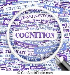 COGNITION. Word cloud concept illustration. Wordcloud...