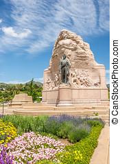 Memorial of Mormon Battalion in Salt Lake City - Utah