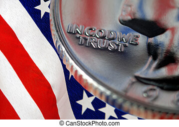 In God We Trust - Red, White, and Blue From American Flag...