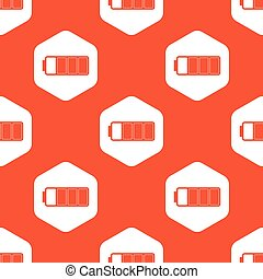 Orange almost full battery pattern - Image of three quarters...