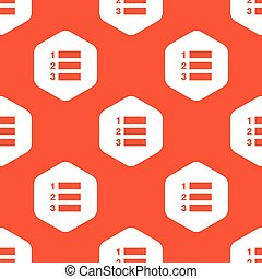 Orange hexagon numbered list pattern - Image of numbered...