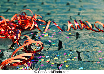 Confetti and Streamers - Confetti and streamers on the...