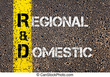 Business Acronym R&D as Regional and Domestic - Business...