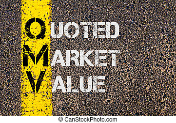 Business Acronym QMV as Quoted Market Value - Business...