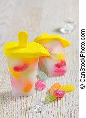 Popsicle Ice Pops with candy - Popsicle Ice Pops with gummy...
