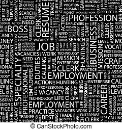 JOB Seamless pattern Word cloud illustration