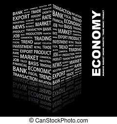 ECONOMY Word cloud concept illustration Wordcloud collage