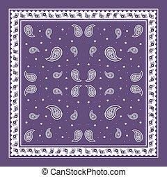 purple Paisley Bandana simple pattern